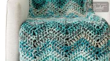 Crochet Chunky Waves Afghan