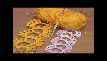 Crochet Wide Lace Bracelet Tutorial