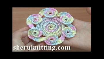 How Crochet Flower Tutorial