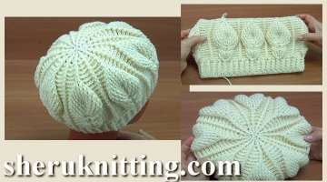 Crochet Leaf stitch Hat Tutorial