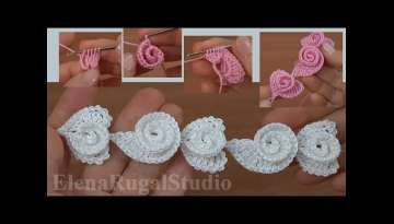 3D Crochet Heart and Scroll Pattern Tutorial