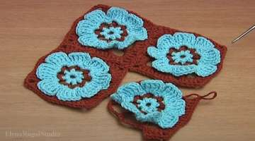 HOW to JOIN GRANNY SQUARES in CROCHET Video 41Part 2 of 2 Crochet Flower