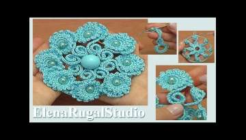 Beautiful Crochet Flower with Beads Tutorial