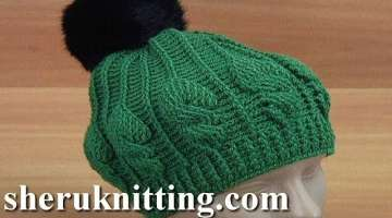 Crochet Cable Stitch Hat Tutorial
