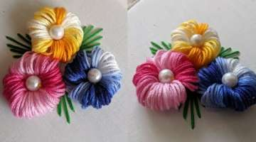 Hand Embroidery For flower design trick