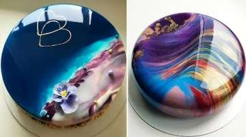 MOST SATISFYING MIRROR GLAZE CAKE DECORATING COMPILATION