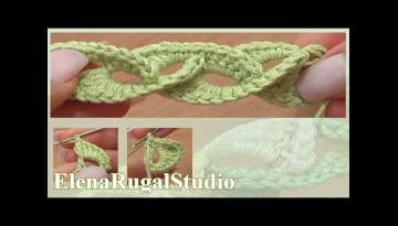 How to Make Crochet 3D Cord Tutorial 5