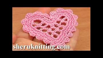 Crochet Mesh Heart Tutorial 11