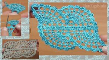 How to Crochet Beautiful Spider Web Lace Tutorial