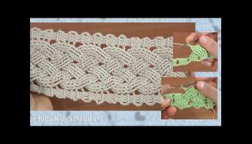 Step-by-Step Crochet Wide Cable Pattern