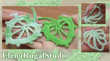 How To Crochet Leaf In Round Tutorial 6