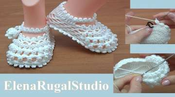 Crochet Baby Shoes with Beads Tutorial