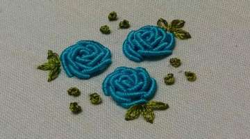 Hand Embroidery: Bullion Knot Rose Stitch