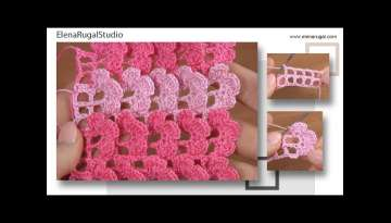 Crochet 3D Flower Pattern Free Tutorial