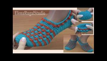 How To Crochet Slippers Step by Step Tutorial