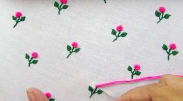All Over Embroidery for Dresses, Bullion Knot Stitch