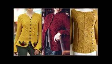 Very Beautiful Hand Knitted Women's Sweaters Designs