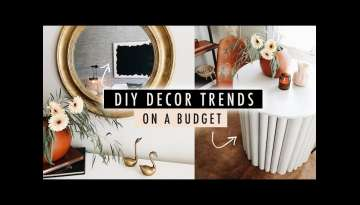 DIY 2020 DECOR TRENDS on a Budget