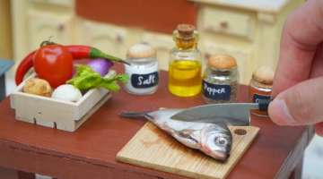 How To Make Thai Grilled Fish In Miniature Kitchen