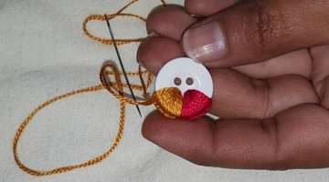 Hand Embroidery:Amazing Button Flower Trick