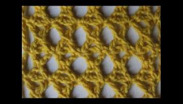 Mesh Stitch K stitch treble cross How To Make