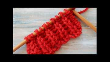 Fisherman's Rib Knitting Stitch Variation