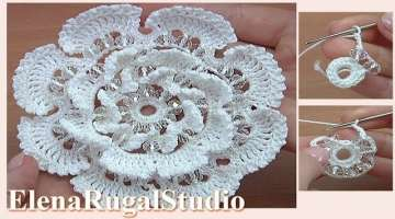 Beautiful 3D Crochet Flower Tutorial
