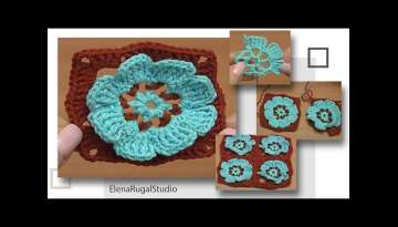 EASY Flower Granny Square Tutorial 41Part 1 of 2 How to Join Motives