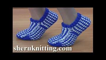 How to Make Knitted Sock With Lazy Jacquard
