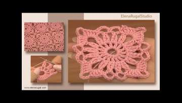 How to Crochet a Basic Square Tutorial 4 Part 1 of 2