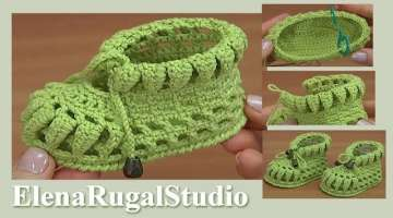 How to make Crochet Baby Shoes Tutorial