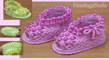 How to Crochet Shoes For Baby Tutorial