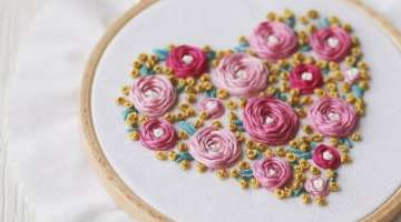Roses heart step by step tutorial.