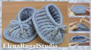 Crochet Baby Slippers Tutorial
