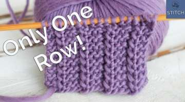 One Row knitting stitch