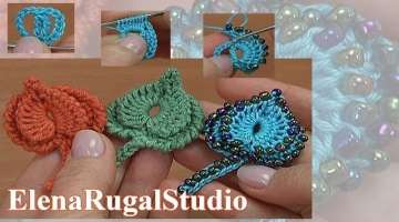 How To Crochet 3D Leaf Tutorial
