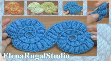Crochet Motif with Bullion Block Stitch Tutorial