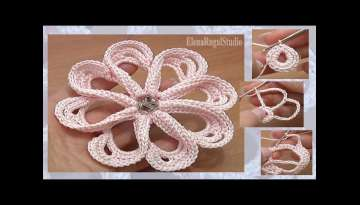 How to Сrochet Flower 8 Petals Tutorial 58