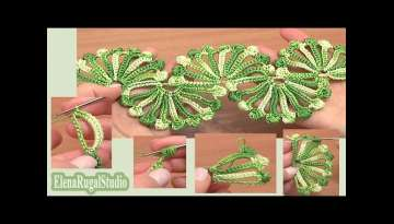 Double Sided Large Shells Crochet Lace Tutorial