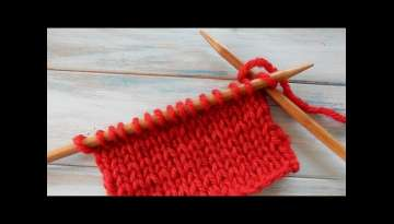 How to Knit Stitch (k) in Knitting