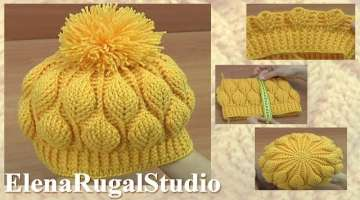 3D Leaves Crochet WARM Beanie HAT