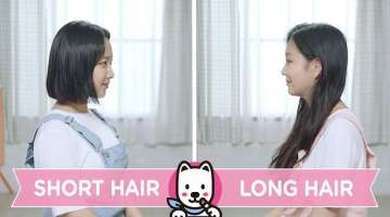 Short Hair VS Long Hair ENG SUB