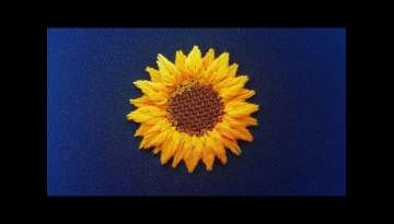New Design: 3D Embroidery of Sunflower