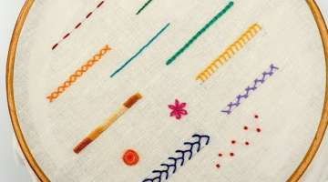TOP 12 STITCHES IN HAND EMBROIDERY
