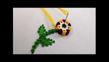 Amazing Hand Embroidery flower design trick