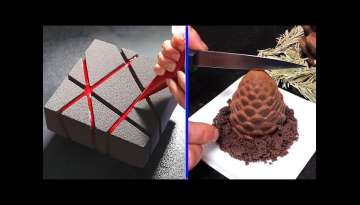 Amazing Chocolate Cake Decorating! Оddly satisfying cake video