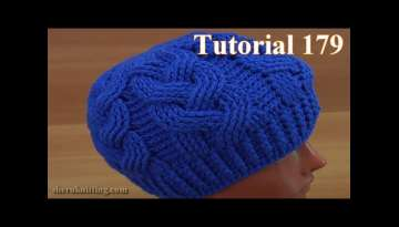 How to Crochet Cable Stitch Hat Tutorial