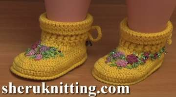 Crochet Baby Ugg Boots Video Tutorial