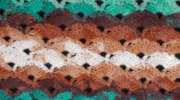 Diagonal Shells Crochet Stitch