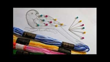 Amazing & Simple Hand Embroidery Bird design